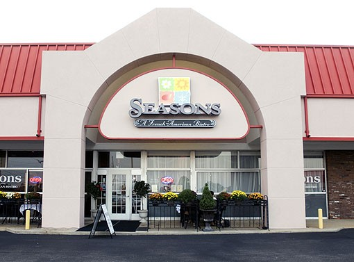 Seasons St. Louis is a French American Bistro located at Olive and 141 in Chesterfield. It anchors a strip mall across the street from Dierberg's. See more photos from Seasons St. Louis here. - PHOTO: JENNIFER SILVERBERG