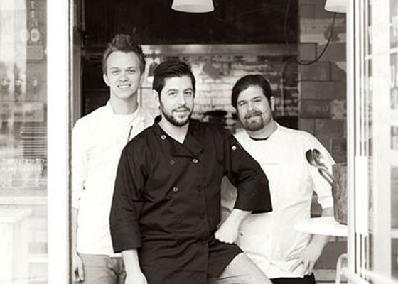 Ben Poremba, center, at Olio. | Jennifer Silverberg