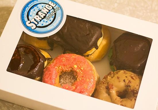 A Strange Donuts mixed dozen.