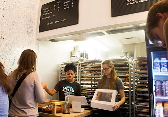 Make your selections at the counter.