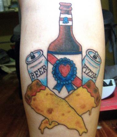 Nope, no copyright infringement on this guy's flesh. - CHERRYBOMBED.COM