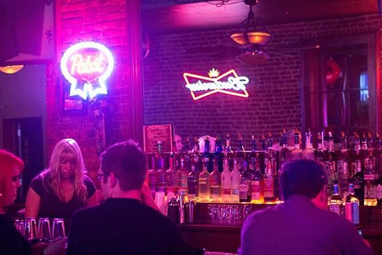 The bar at Nadine's.