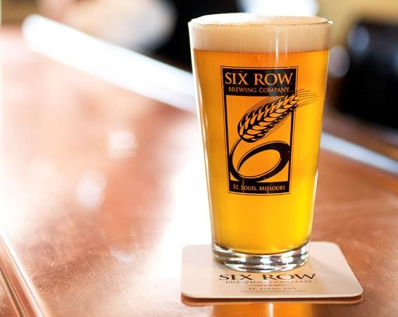 "A pint of the ""Whale"" beer at Six Row Brewing Company - JENNIFER SILVERBERG"