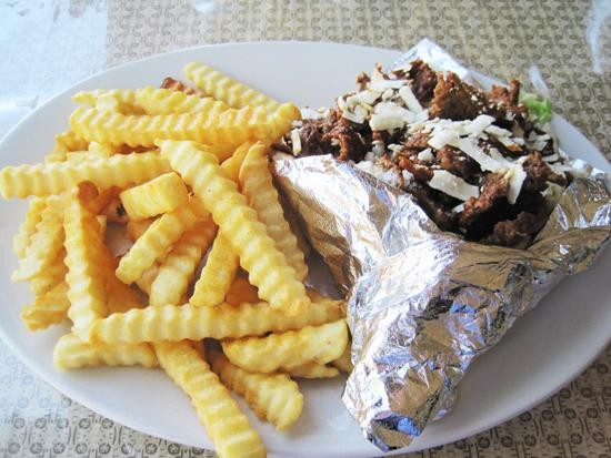 "The ""Special Gyro Sandwich"" at South Grand Gyro Express - IAN FROEB"