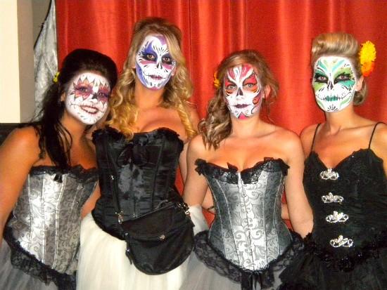Cuervo Girls at Dia de los Muertos 2011. | Deborah Hyland