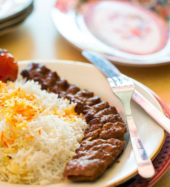 Beef kobeedah with basmati rice - JENNIFER SILVERBERG