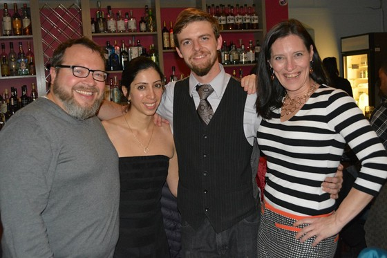 With judges Clauss and Segura. | Courtesy of the Gin Room