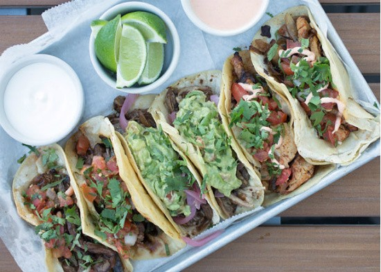 Vida Mexican Kitchen y Cantina's taco platter, one of many options at its Cinco de Mayo celebration this weekend. - JENNIFER SILVERBERG