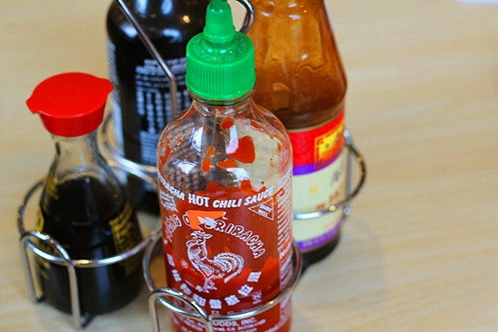 The standard condiments.