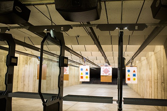 A look at the shooting range.