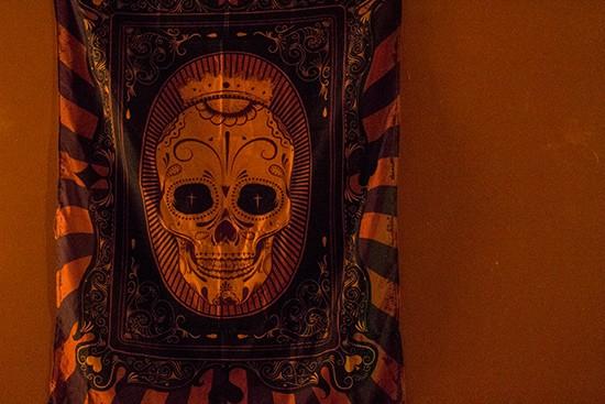 Sugar skulls -- a recurring theme.