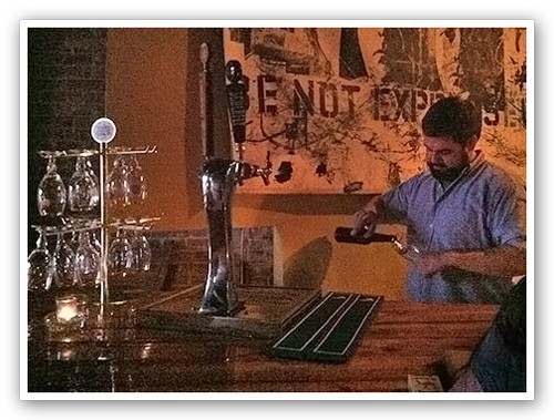 It's dark all up in here: The bar upstairs at Maryland House.   Kaitlin Steinberg