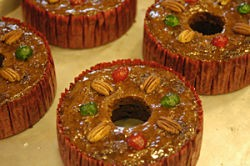 Assumption Abbey fruitcake. You can even cut it with a knife! - IMAGE VIA