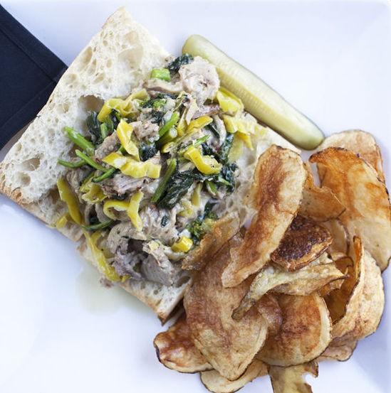 "The ""Porchetta Louie"" sandwich at Dressel's - JENNIFER SILVERBERG"