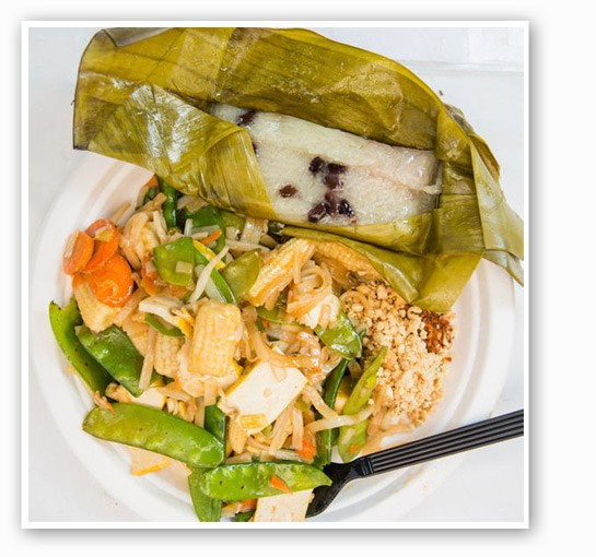 A dish from the Thai tent. | Theo Welling