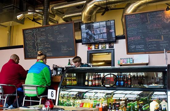The bar at Spare No Rib.