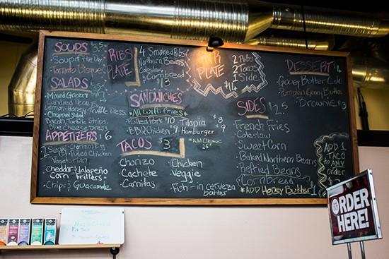The food menu.
