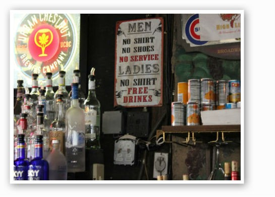 Clever signage at the bar. | Zach Garrison