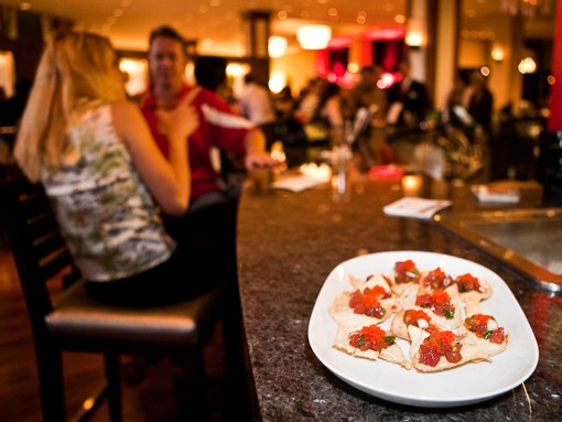 A plate of ahi tuna poke at the opening of Red Kitchen & Bar in the Hyatt Regency Riverfront hotel downtown. See more photos from last night. - PHOTO: STEW SMITH