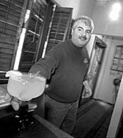Al Solis shows off  margaritas at Pueblo Solis. - JENNIFER SILVERBERG