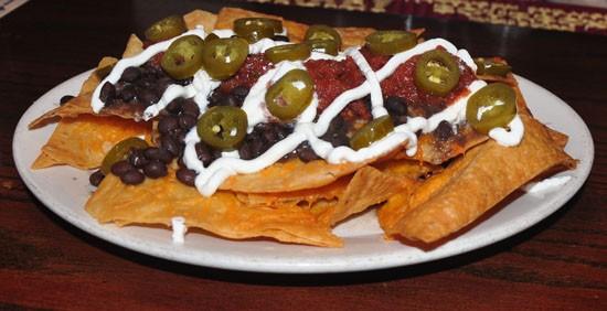 Vegetarian nachos at Sandrina's. - TARA MAHADEVAN