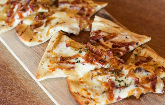 Bacon flatbread.