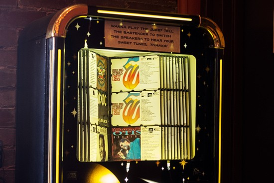 Jukebox in the corner.