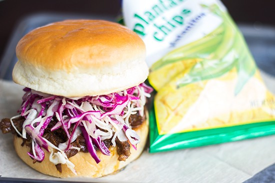 Korean-style pulled short rib sandwich. | Photos by Mabel Suen