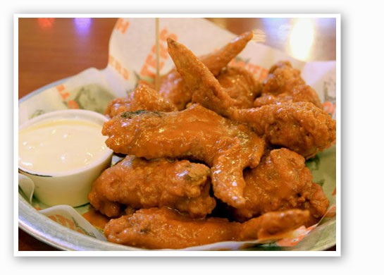 Hooters' original wings. | Madelaine Azar