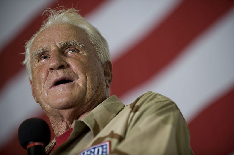 Don Shula, bringing his steaks to your town. - IMAGE VIA