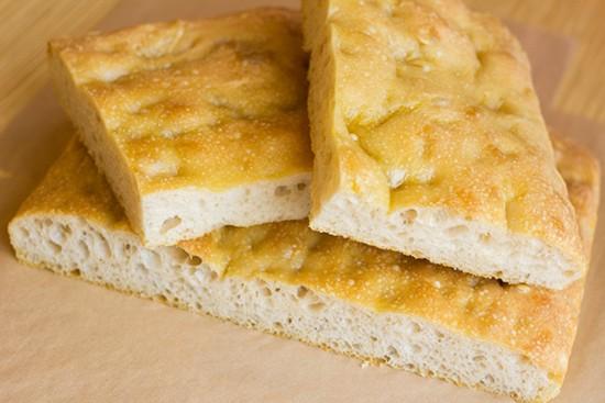 Fresh-baked focaccia.