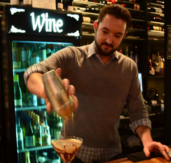 Brad Gittemeier mixes up a Tiramisu Martini - STEPHANIE TOLLE