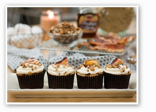 Maple bacon cupcakes. | The Cup