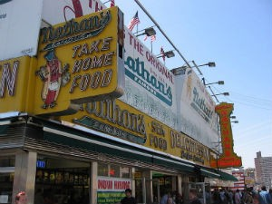 Famous Nathan's, which Murray Handwerker made really famous. - WIKIMEDIA COMMONS