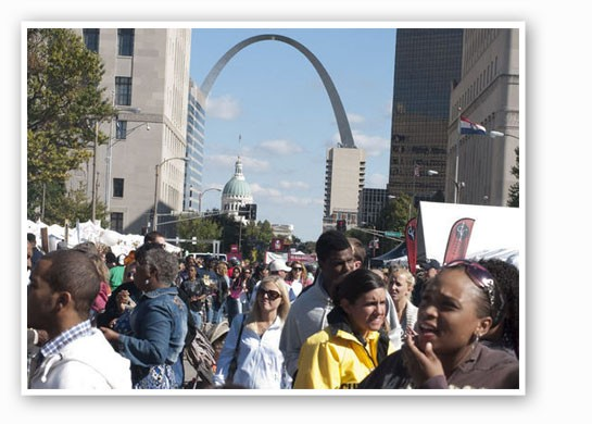 Taste of St. Louis, when it was downtown. Tear. | Sarah Rusnak