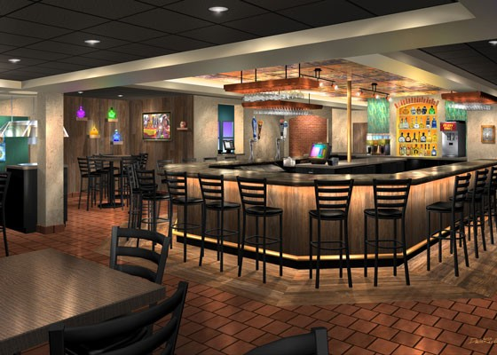 A rendering of the new bar at Hacienda Mexican Restaurant. | Courtesy Hacienda