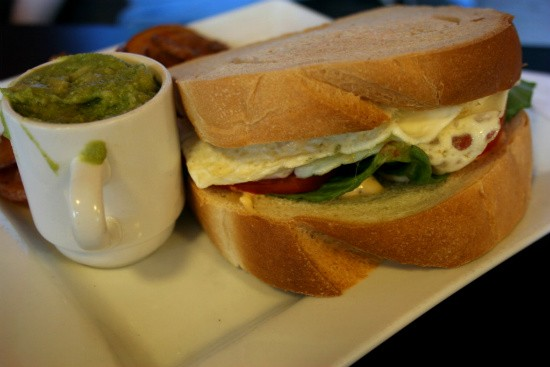 Rooster's fried egg sandwich, in case Mom wants some lunch with her breakfast. - CHRISSY WILMES