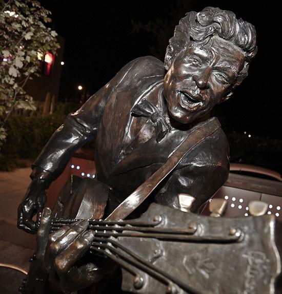 The Chuck Berry statue, near Blueberry Hill on Delmar.