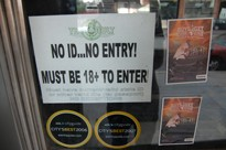 A sign on the door of the shuttered venue.