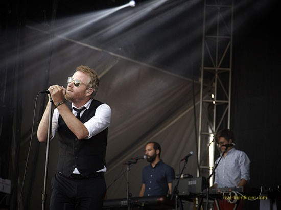 The National, continuing to provide a soundtrack for the crowd's ridiculous remarks. - STEVE TRUESDELL