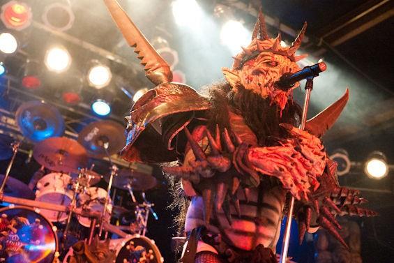Gwar frontman Dave Brockie, in his Oderus Urungus costume. - JON GITCHOFF