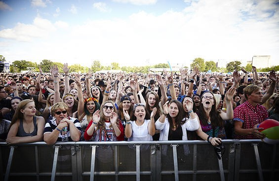 An excited crowd at this year's LouFest. - STEVE TRUESDELL