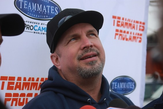 Garth Brooks talks about his Teammates for Kids foundation. - ALLISON BABKA