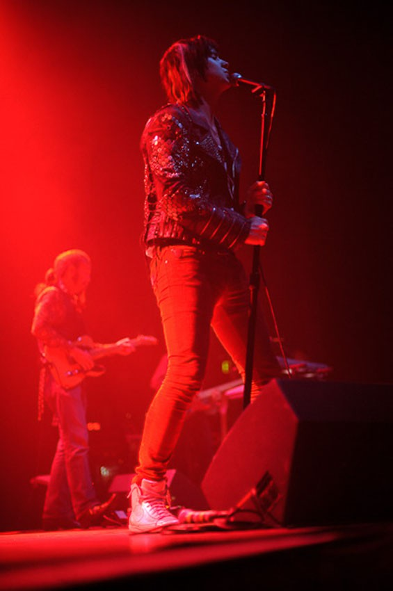 Julian Casablancas last night on the Pageant stage. See more photos from Julian Casablancas' show last night at the Pageant. - PHOTO: TODD OWYOUNG