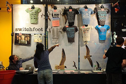 Switchfoot merch last night at Suite 100, adjacent to the Pageant. See more photos from last night here. - PHOTO: TODD OWYOUNG