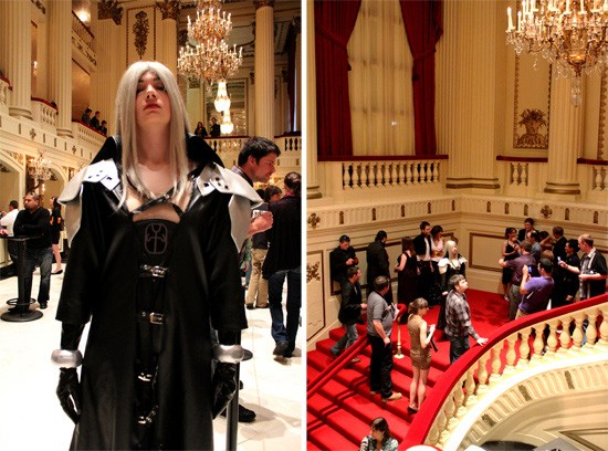 Many fans lined up to take photos with cosplayers: Sephiroth from Final Fantasy VII. - MABEL SUEN