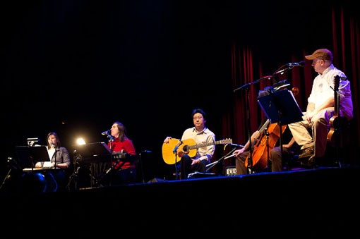 The Magnetic Fields last night at the Pageant. See a full slideshow here. - PHOTO: TODD OWYOUNG