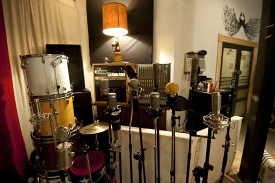 The microphones range from classic to modern. - KHOLOOD EID