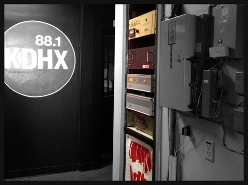 The middle hallway of KDHX Magnolia - JAIME LEES