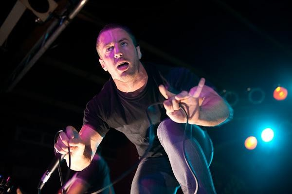 Greg Puciato of Dillinger Escape Plan at Pop's, 12/12/09. More photos here. - TODD OWYOUNG